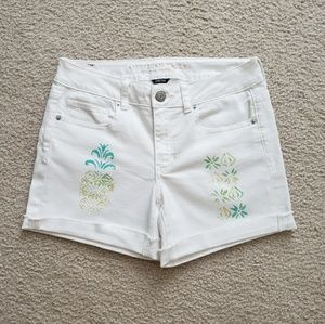 AMERICAN EAGLE Hand Painted Jean Shorts